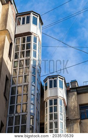 External Lifts, Typical For Old St. Petersburg