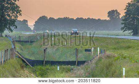 Fences Leading To Wildlife Culvert