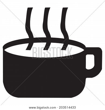 coffee cup Icon breakfast brown cafe caffeine cappuccino