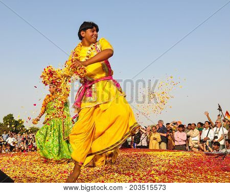 Folk Dance During A Traditional Festival