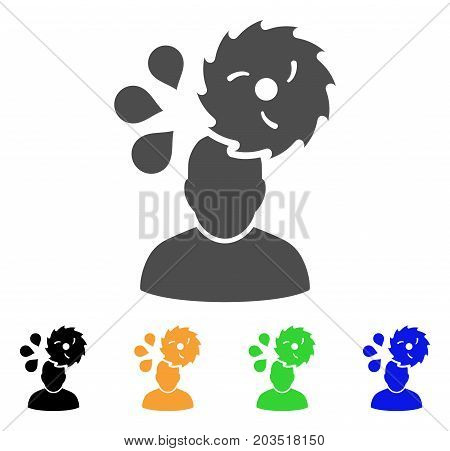 Circular Saw Accident icon. Vector illustration style is a flat iconic circular saw accident symbol with black, grey, green, blue, yellow color versions. Designed for web and software interfaces.