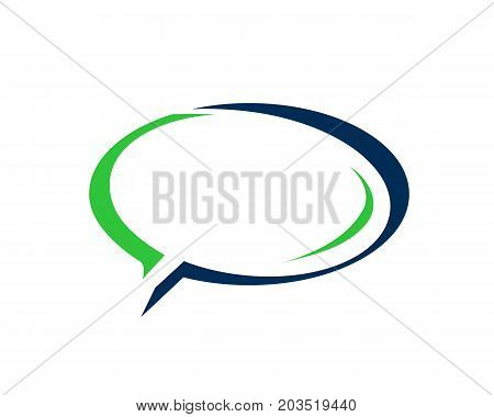 elegant speech bubble, speech bubble icon, illustration design, isolated on white background