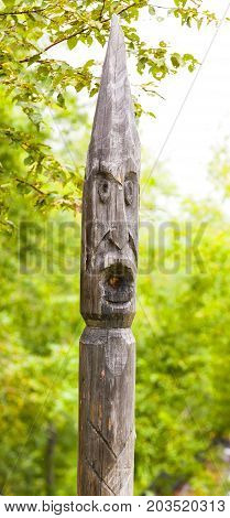 totem poles of the aborigines of Kamchatka: Itel'men and Koryak