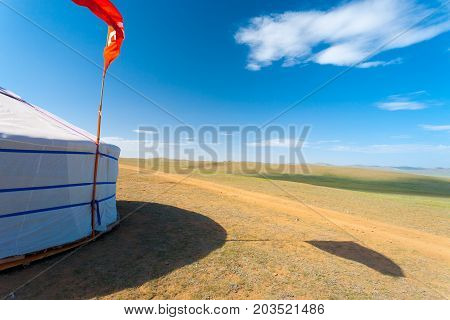 Mongolia Rural Grassland Outdoors Yurt House