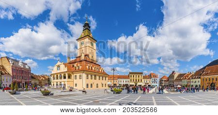 Central council Square Brasov Transylvania landmark Romania