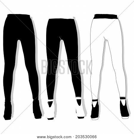 Woman leggings image illustration isolated ыуе .