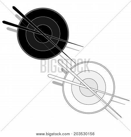 Illustration Of Rice Donburi/bowl/cup