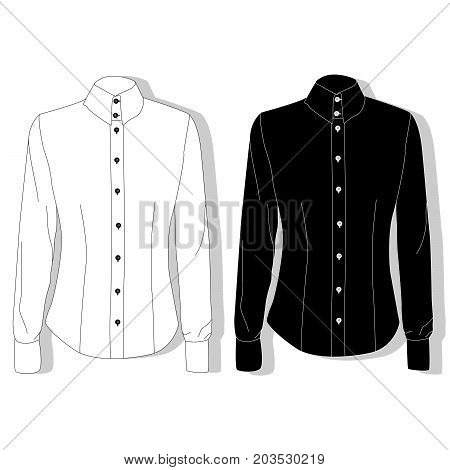 Dress shirt female . Clothes collection .