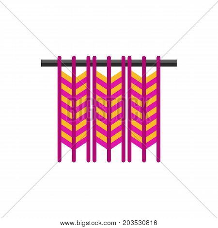 Vector icon of woven work. Macrame, knitting, handicraft. Handmade concept. Can be used for topics like hobby, leisure, creativity