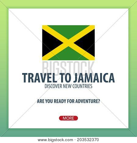 Travel To Jamaica. Discover And Explore New Countries. Adventure Trip.