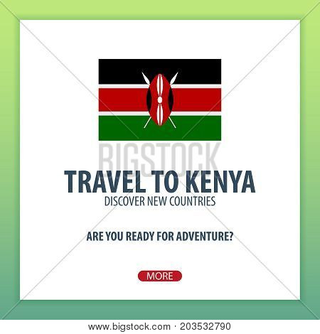 Travel To Kenya. Discover And Explore New Countries. Adventure Trip.