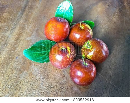 Fruit of Chinese jujube or Chinese date on display at the farmer's market