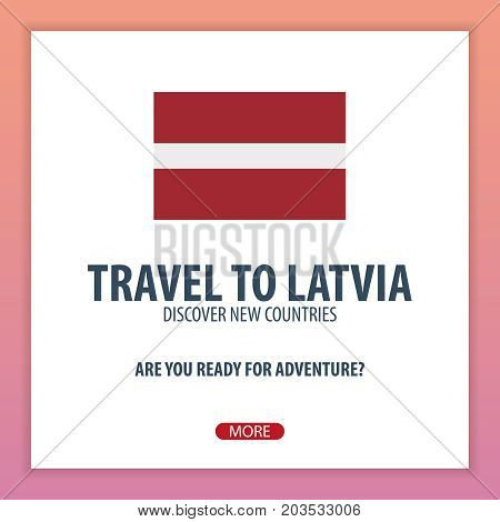 Travel To Latvia. Discover And Explore New Countries. Adventure Trip.