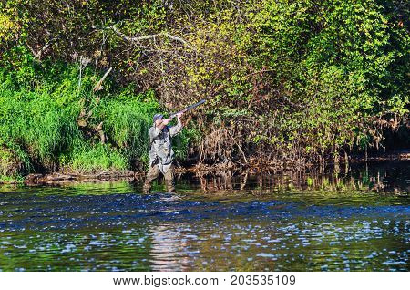 Hunter Hunting Duck