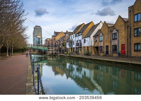 London England - Ornamental Canal at St Katharine's & Wapping