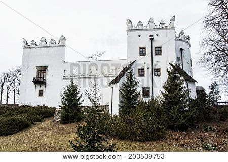 Beautiful chateau Strazky Slovak republic. Cultural heritage. Architectural theme.