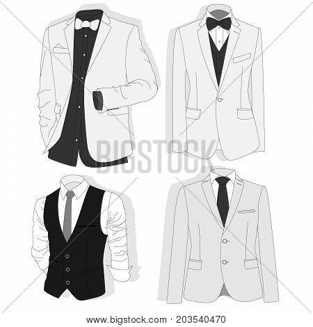 Men's Jacket. Ceremonial Men's Suit, Tuxedo.