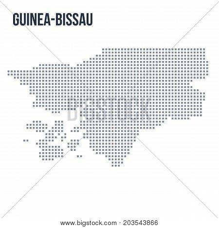 Vector Pixel Map Of Guinea-bissau Isolated On White Background