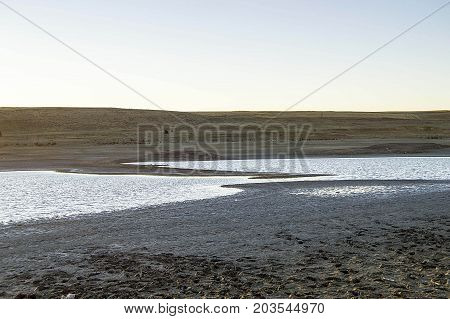 diminishing dams and lake waters from drought