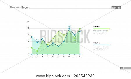 Increasing graph slide template. Business data. Graph, diagram, design. Creative concept for infographic, report. Can be used for topics like statistics, growth, development