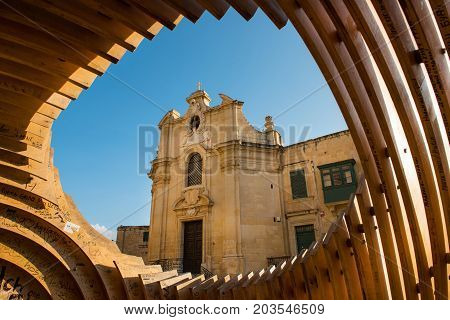 Our Lady Of Victories Church In Valletta