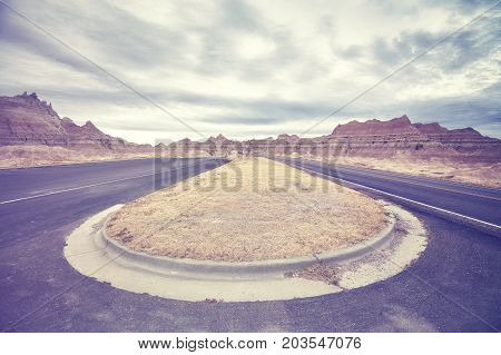 Vintage Toned Road, Travel Concept Background.