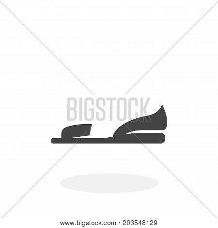 Women shoes icon isolated on white background. Women shoes vector logo. Flat design style. Modern vector pictogram for web graphics - stock vector