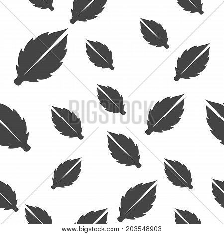 Leaves seamless pattern. Vector illustration for backgrounds