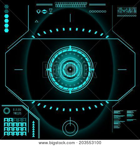 technology of the future. the dashboard. The interface of the future. Vector