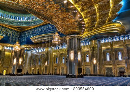 Kuwait Grand Mosque interior - 04-01-2015 Kuwait-city Kuwait