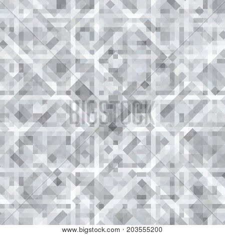 Abstract gray background of squares. Geometric texture. Halftone effect