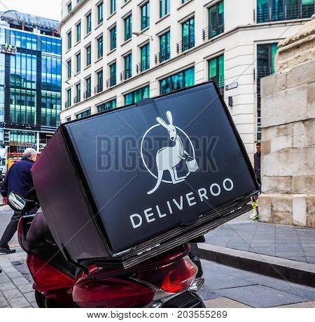 Deliveroo Bike In London (hdr)