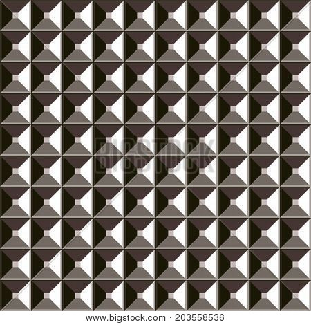 Vector abstract silver seamless pattern. Realistic metal background.