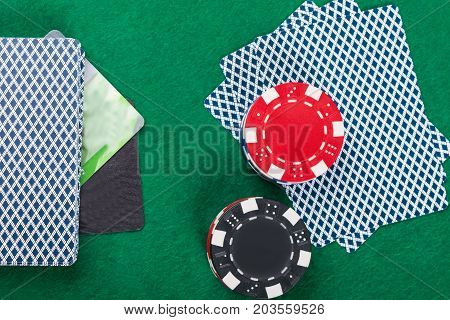 the game of poker on the green table credit card payment