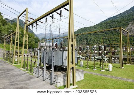 Power Station Making Electricity From A Hydroelectric Plant