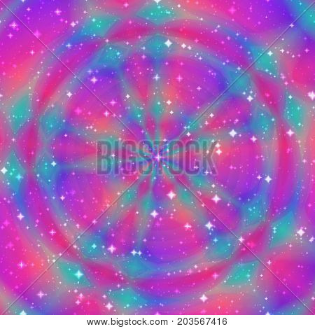 Round circle square tile astral esoteric festive background