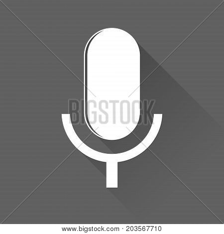 Microphone Icon Vector, Voice Recorder, Interview, Karaoke, Audio Jack Sign Sign Isolated On White B