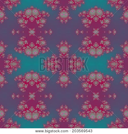 Royal exclusive delicate pink and blue seamless lacy pattern