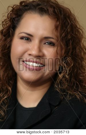 Beautiful Smiling Hispanic Woman