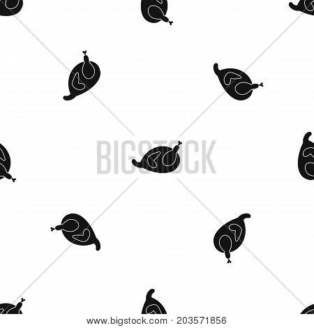 Gammon pattern repeat seamless in black color for any design. Vector geometric illustration