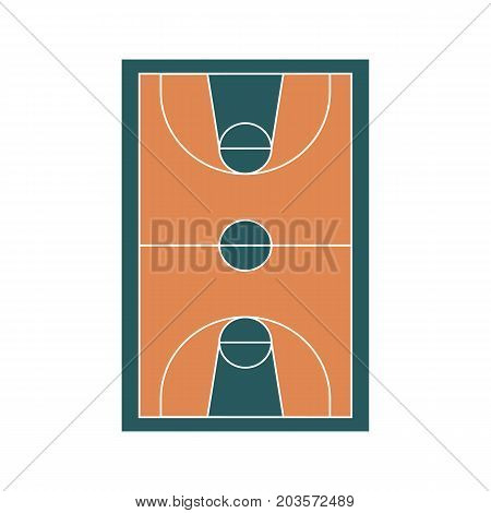 Basketball court/ field. Basketball court in flat style. Vector stock.