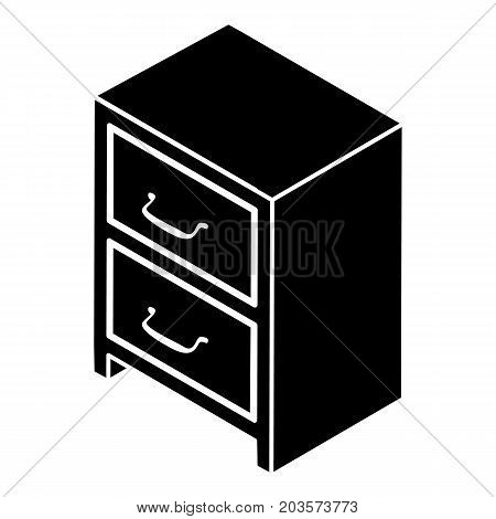 Office chest of drawers icon. Simple illustration of office chest of drawers vector icon for web design isolated on white background