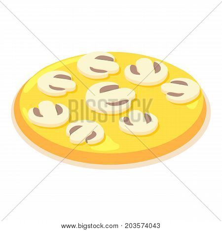 Sliced mushrooms icon. Isometric illustration of sliced mushrooms vector icon for web