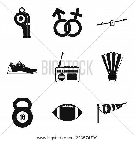Sexual differences icons set. Simple set of 9 sexual differences vector icons for web isolated on white background
