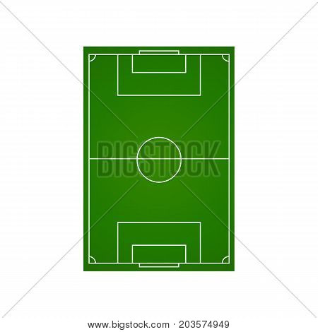 Soccer field camp isolated on white background. Vector stock.