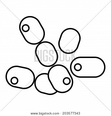 Coccus bacilli icon. Outline illustration of coccus bacilli vector icon for web design isolated on white background
