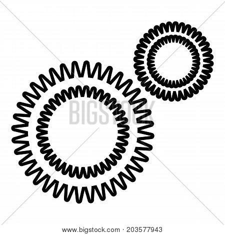 Mildew virus icon. Outline illustration of mildew virus vector icon for web design isolated on white background