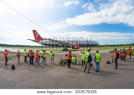 Airbus A310 Qeshm Air, Airport Pulkovo, Russia Saint-petersburg August 10, 2017.