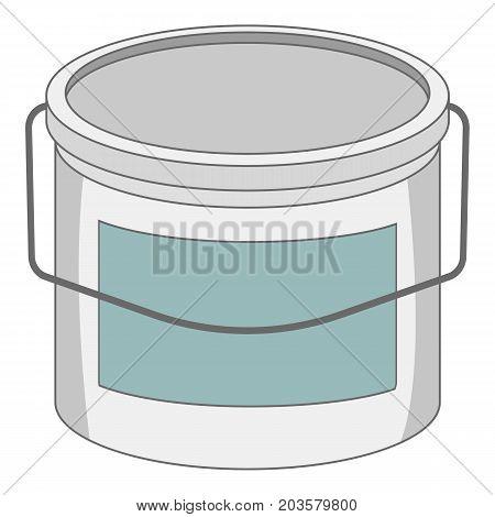 Paint bucket icon. Cartoon illustration of paint bucket vector icon for web