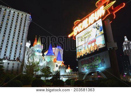 Excalibur Hotel And Casino In Las Vegas.